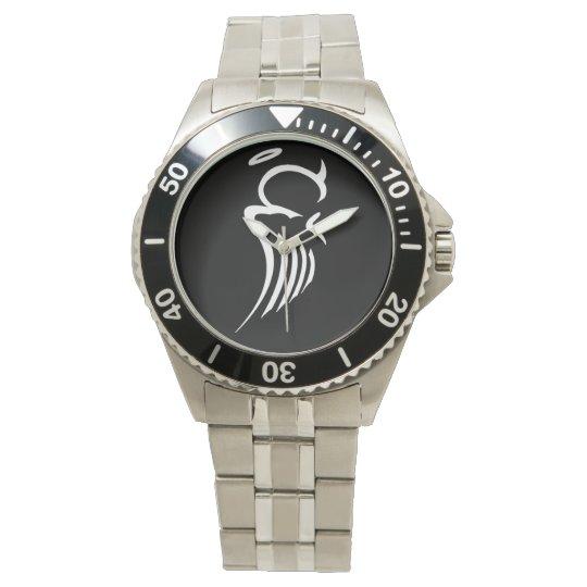 Bi-Polar Angel Stainless Steel Watch