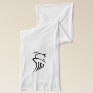 Bi-Polar Angel White Jersey Scarf