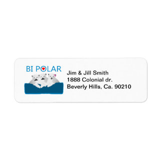 Bi Polar Bears Return Address Label