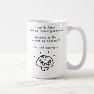 "'bi-polar"" classic white coffee mug"