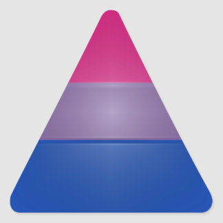 Bi Pride Colors Highlight Triangle Sticker