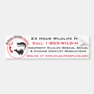 Bi-State Wildlife Hotline Bumper Sticker