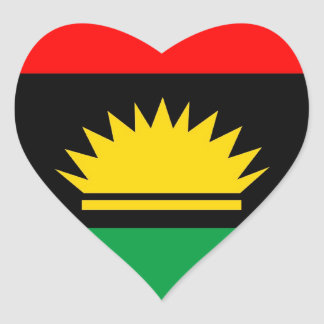 Biafra republic minority people ethnic flag heart sticker