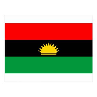 Biafra republic minority people ethnic flag post card