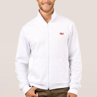 Biala bluza z polska flaga i orzelkiem na plecach jacket