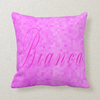 Bianca Girls Name Logo, Throw Pillow