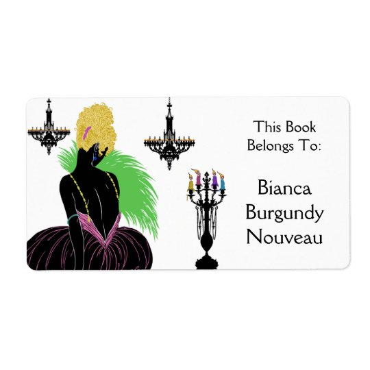 Bianca in Black and White - Bookplate Shipping Label