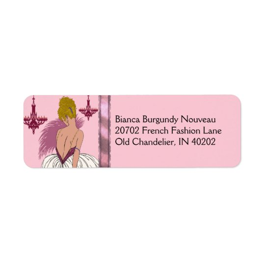 Bianca in Pink and Burgundy Return Address Label