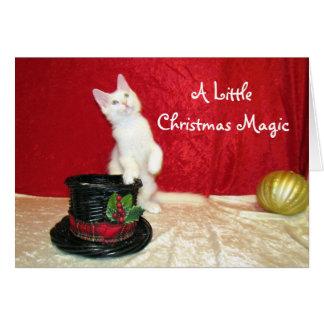 Bianca Noël magique Kitty Carte De Vœux