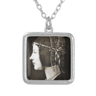 Bianca Sforza by Leonardo da Vinci Silver Plated Necklace