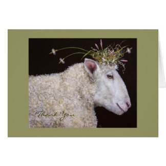 Bianca the sheep Thank you card