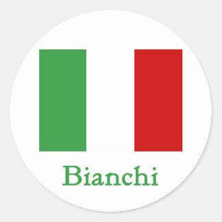 Bianchi Italian Flag Classic Round Sticker