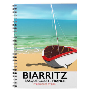 Biarritz France Beach travel poster Notebook