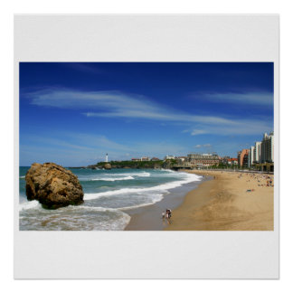 Biarritz the great beach poster