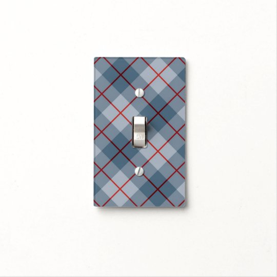 Bias Plaid Blue-Red Stripe Light Switch Cover