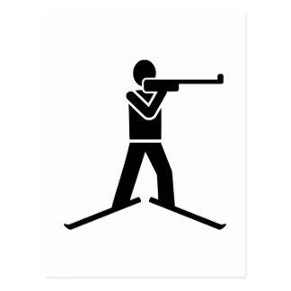 Biathlon logo postcard