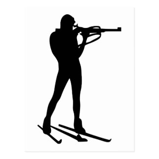 Biathlon Postcard