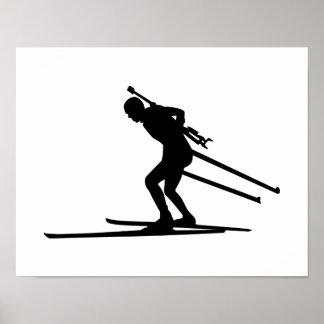 Biathlon skiing posters