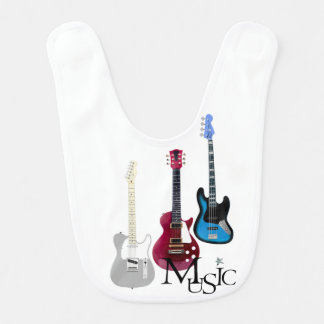 """Bib """"Guitars and music """""""