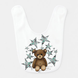Bib teddy and stars