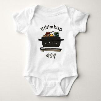 Bibimbap Korean rice bowl namul vegetables egg Baby Bodysuit