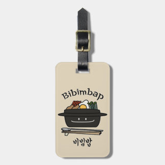 Bibimbap Korean rice bowl namul vegetables egg Luggage Tag
