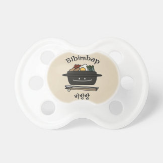 Bibimbap Korean rice bowl namul vegetables egg Pacifier