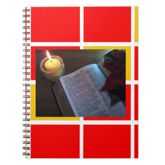 Bible and Candle Photo Notebook (80 Pages B&W)