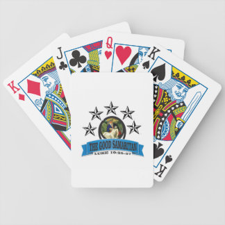 bible art good samaritan poker deck