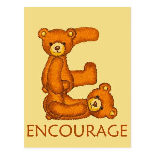 Bible Bears ~ Encourage Scripture Postcard