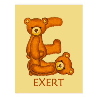 Bible Bears ~ EXert ~ Flashcard Postcard