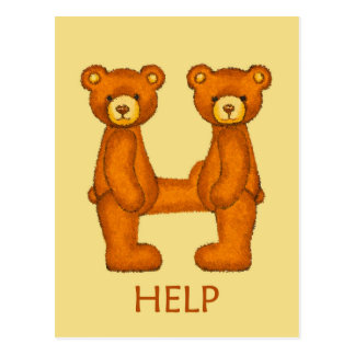 Bible Bears~Help Scripture ~Flashcard Postcard