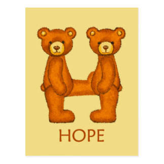 Bible Bears ~ Hope Scripture ~ Flashcard Postcard