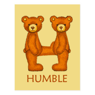 Bible Bears ~ Humble Scripture Postcard