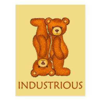 Bible Bears ~ Industrious Scripture Postcard