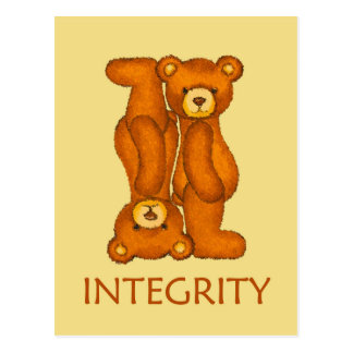 Bible Bears ~ Integrity Scripture Postcard