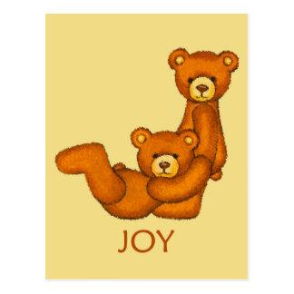 Bible Bears ~ Joy Scripture Postcard