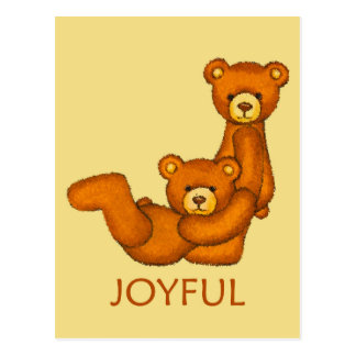 Bible Bears ~ Joyful Scripture Postcard