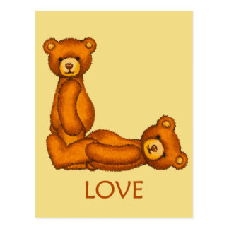Bible Bears ~ Love Scripture 4 ~ Flashcards Postcard