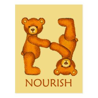 Bible Bears ~ Noourish Scripture Postcard