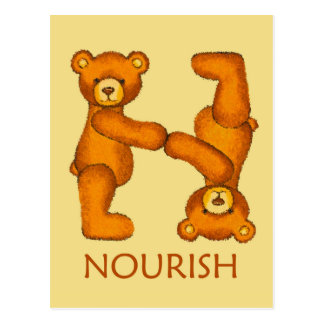 Bible Bears ~ Noourish Scripture Postcard