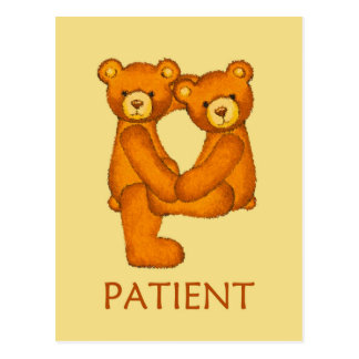 Bible Bears ~ Patient Scripture ~ Flashcard Postcard