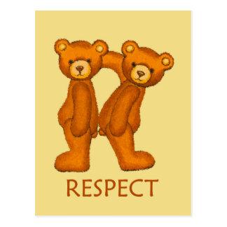Bible Bears ~ Respect Scripture ~ Flashcard Postcard