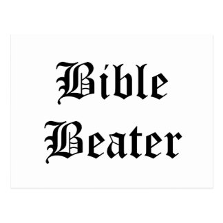Bible Beater Postcard
