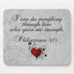 Bible Christian Verse Philippians 4:13 Mouse Pads