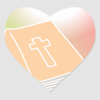 Bible Heart Sticker