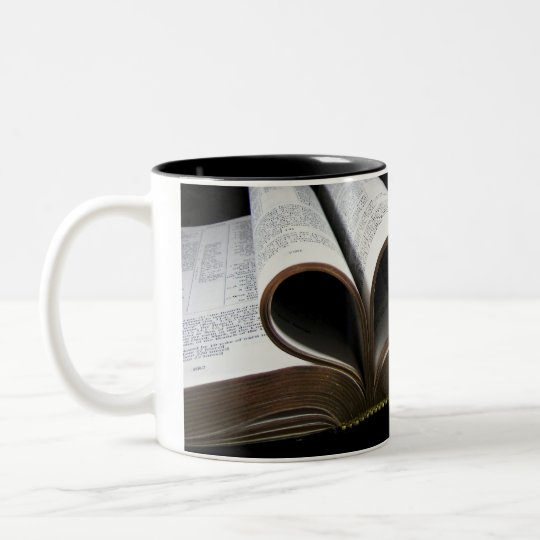 Bible Heart Two-Tone Coffee Mug
