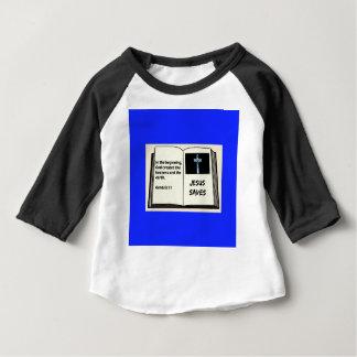 """Bible """"Jesus Saves"""" Series: Genesis 1:1 Baby T-Shirt"""