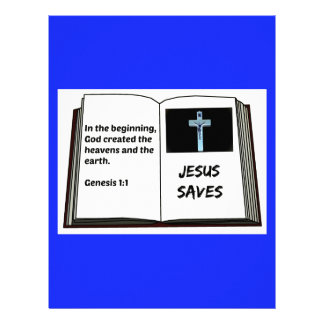 "Bible ""Jesus Saves"" Series: Genesis 1:1 Letterhead"