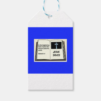 "Bible ""Jesus Saves"" Series: Genesis 1:1 Pack Of Gift Tags"